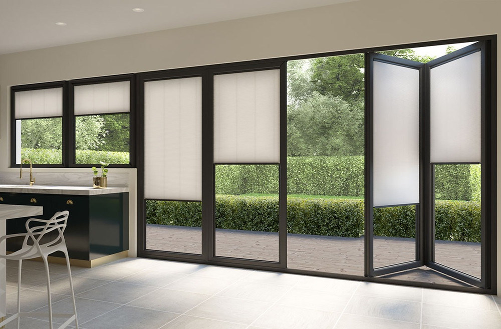 Duette blinds for bifold doors