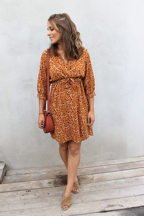 ROBE ELYNA MOUTARDE