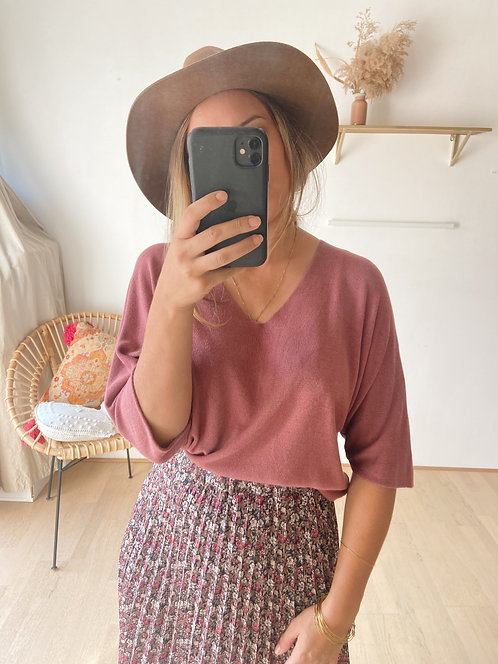 PULL OPALE VIEUX ROSE