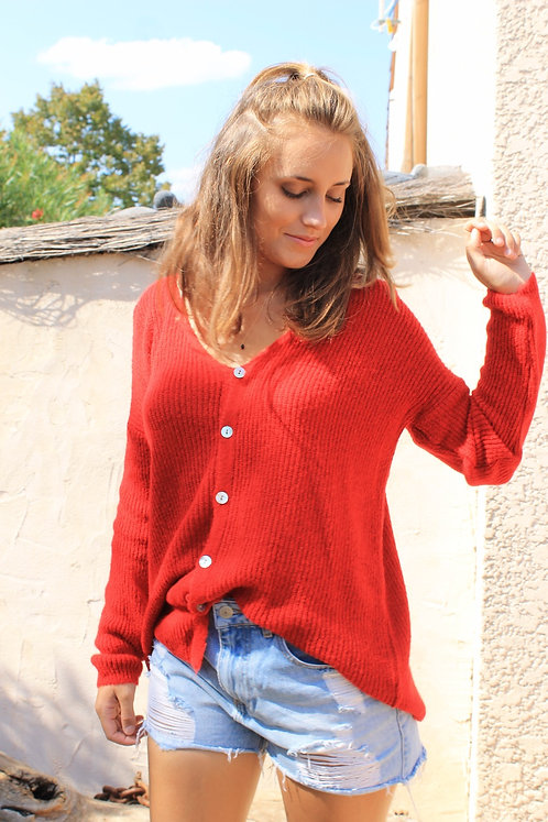 GILET ISAURE ROUGE