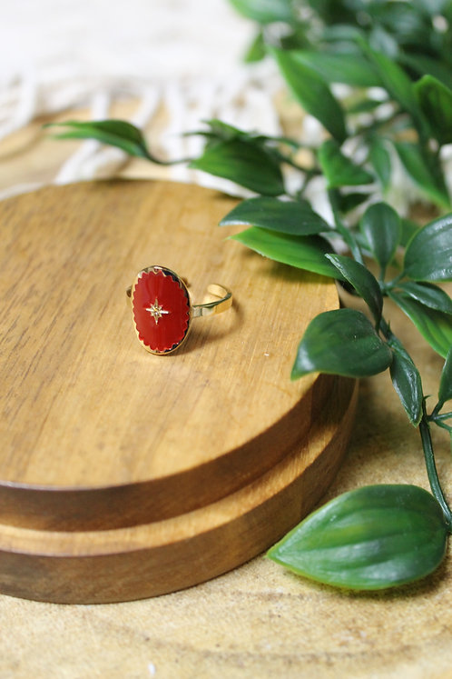 BAGUE NYSO ROUGE