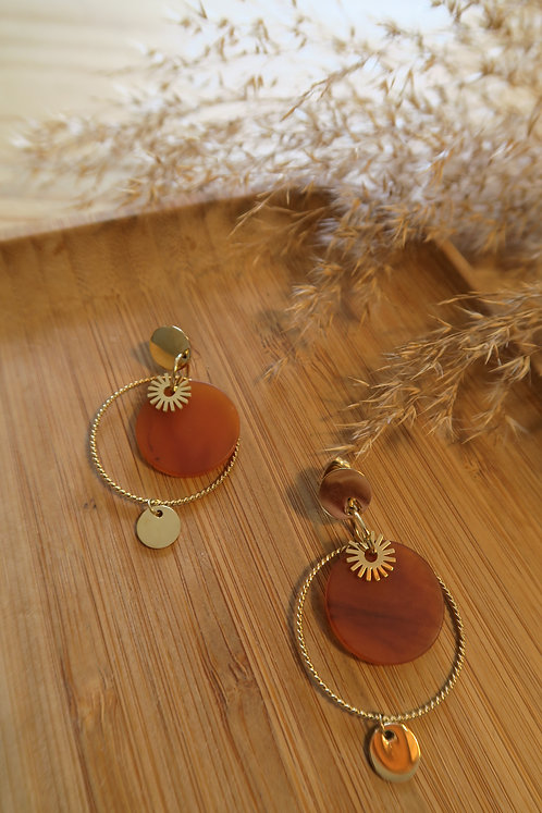 BOUCLES D'OREILLES ZAINA ORANGE