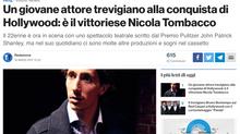 Un giovane attore trevigiano alla conquista di Hollywood: è il vittoriese Nicola Tombacco