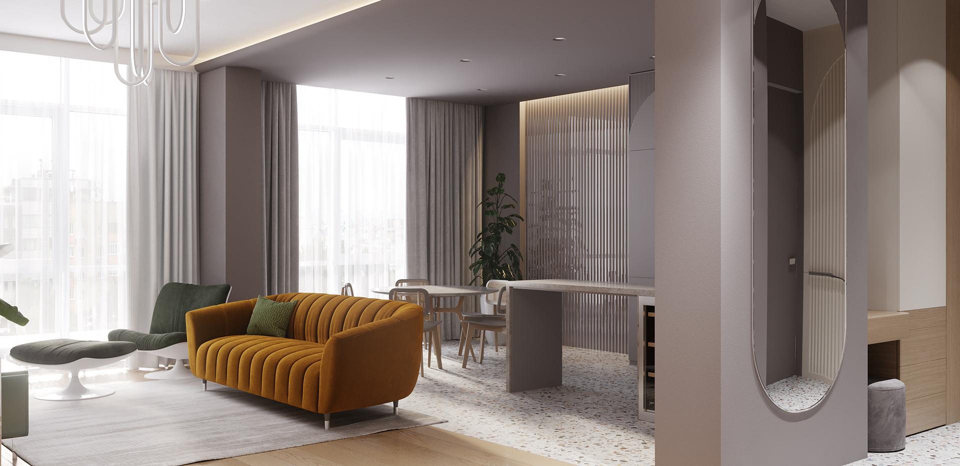 LivingroomKitchenHall_white_terrazzo_c3.