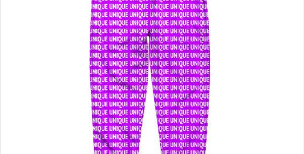 """Штаны """"Unique"""" фиолетовые с черными манжетами"""