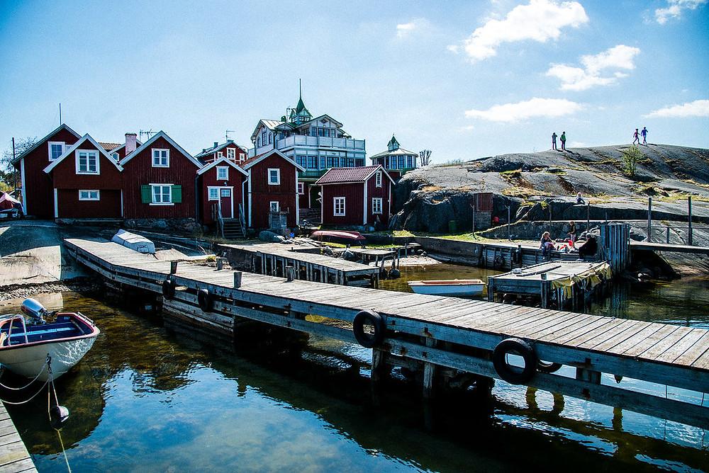 Sandhamn - ö - stockholms - skärgård