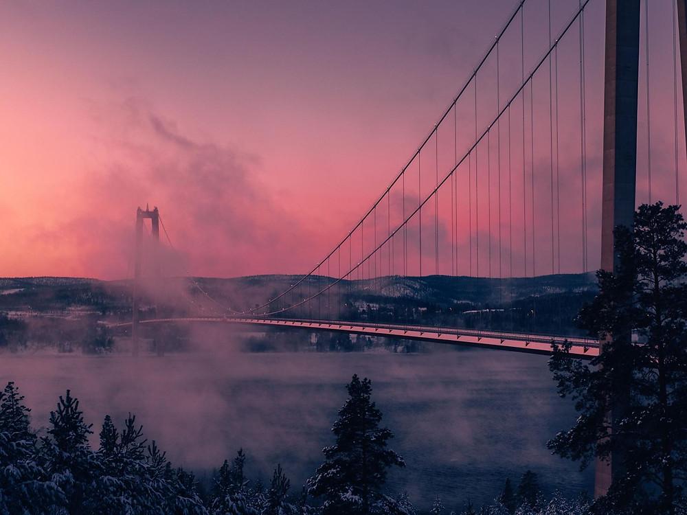 höga kusten - bron