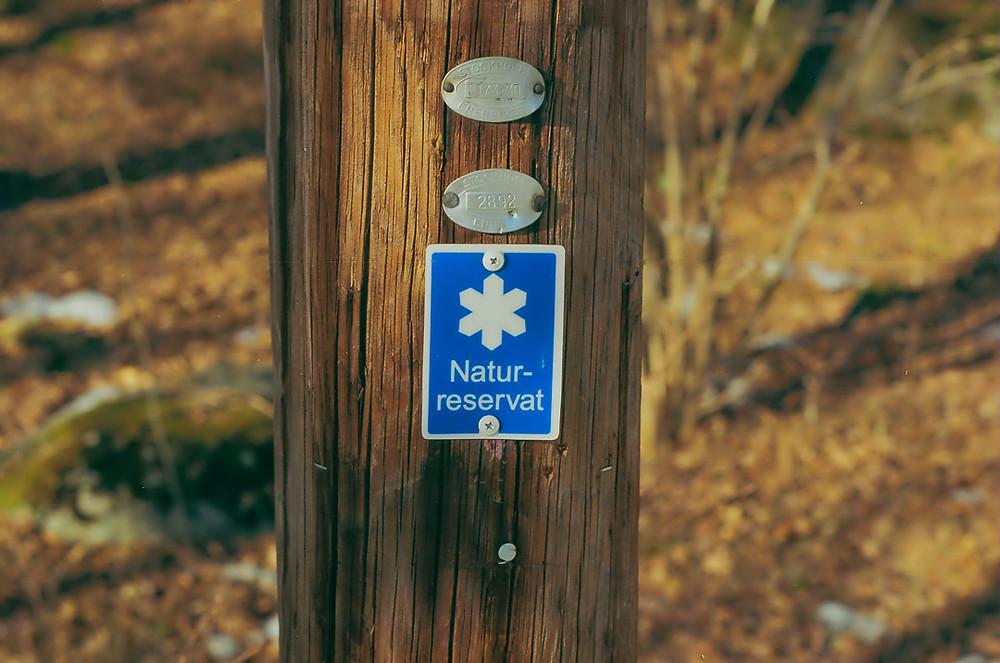 Naturreservat - Symbol - Markering