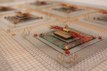 Anne Marie Kenny | Red Microchip Industrial Quilt
