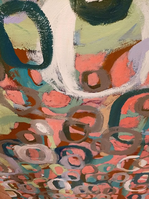 Contemporary abstract painting on canvas