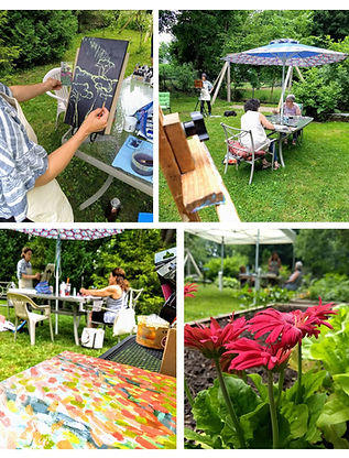 Painting-in-the-garden-outdoors-flowers-