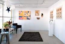 Our front gallery exhibits the work of our 8 resident studio artists. Their studios are all in this same location on Front Street.
