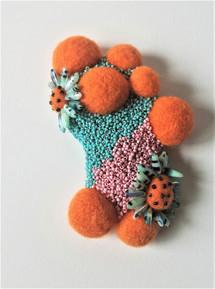 Danielle Gaynor | Orange Bubble Brooch