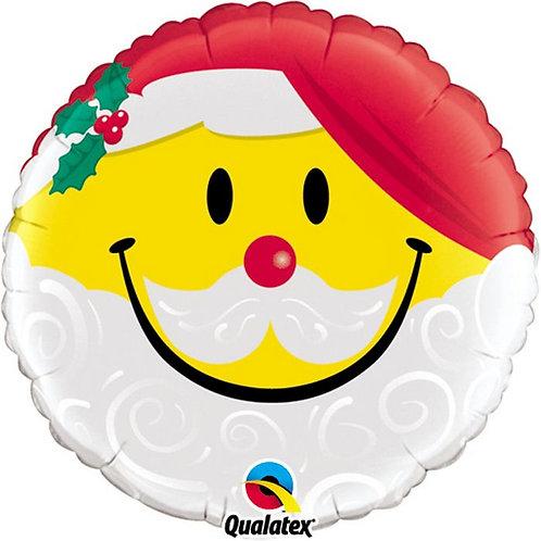 Ballon alu Emoji Père Noël