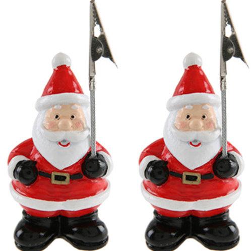 Marque-place Père-Noël en Résine x2