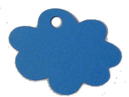 Etiquettes Nuage x50 - Bleu