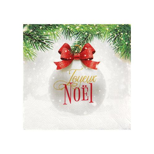 Serviettes Boule de Noël Rouge