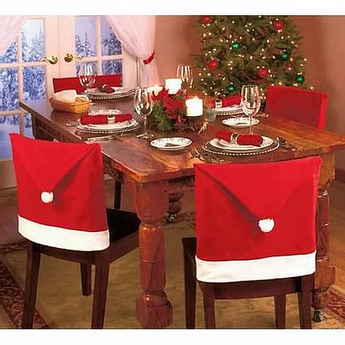 """Housses de chaises """"Bonnet de Noël"""" x2"""