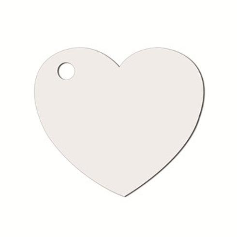 Etiquettes Coeur x50 - Blanche
