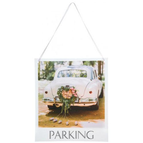 Pancarte Wedding Chic - Parking