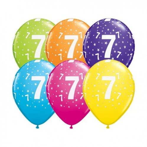 Ballons Latex x6 - 7 ans