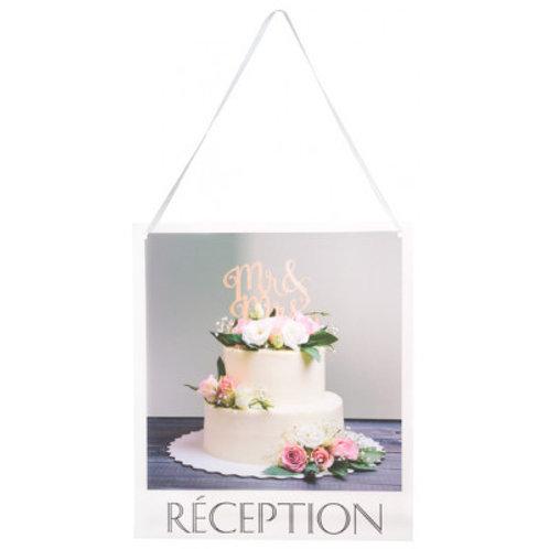 Pancarte Wedding Chic - Réception