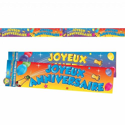 Bannière Multicolore - Joyeux Anniversaire