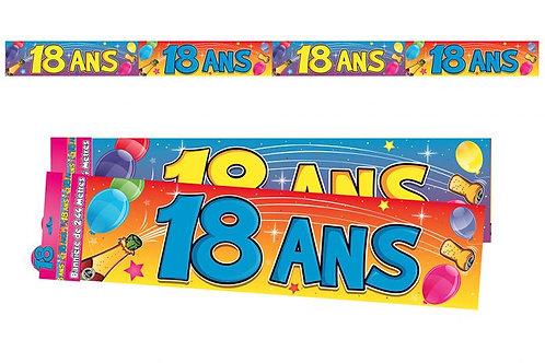 Bannière Multicolore - 18 ans