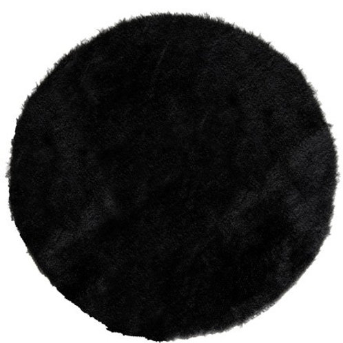 4 sets de table chic Noir style fourrure ronds