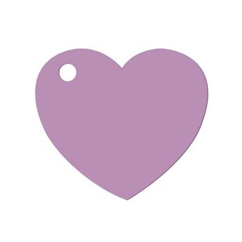 Etiquettes Coeur x50 - Parme