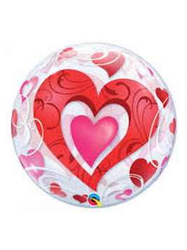 Ballon bubbles Coeur