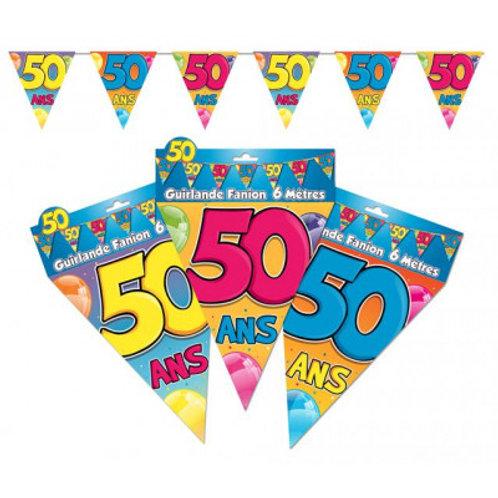 Fanions Multicolores - 50 Ans