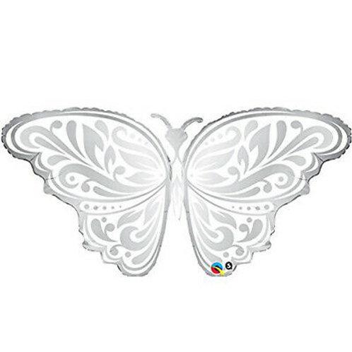 Ballon alu Papillon en Argent