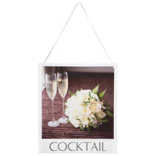 Pancarte Wedding Chic - Cocktail