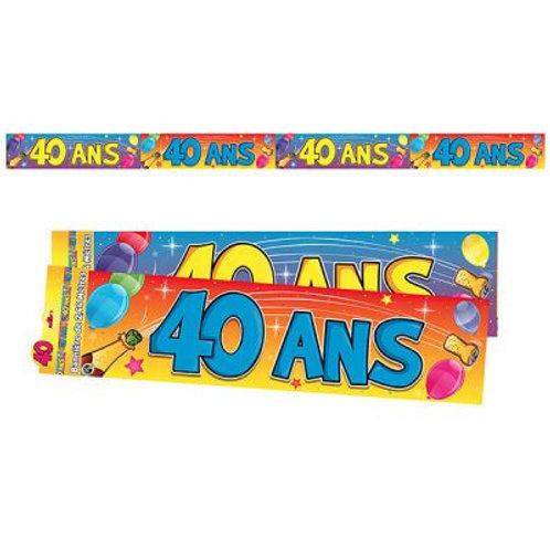Bannière Multicolore - 40 ans