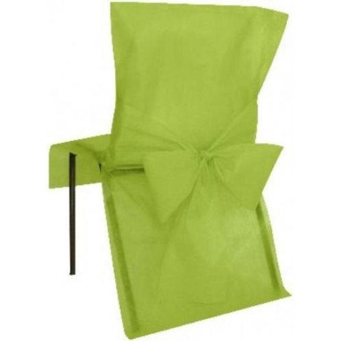 Housses de Chaises x10 - Vert Anis