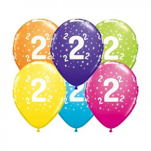 Ballons Latex x6 - 2 ans