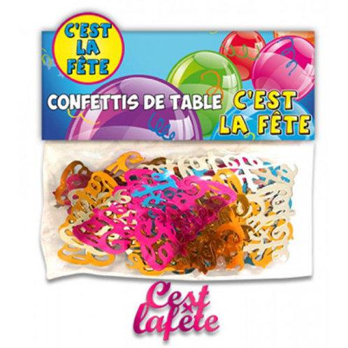 Confettis de Table Multicolore - C'est la Fête