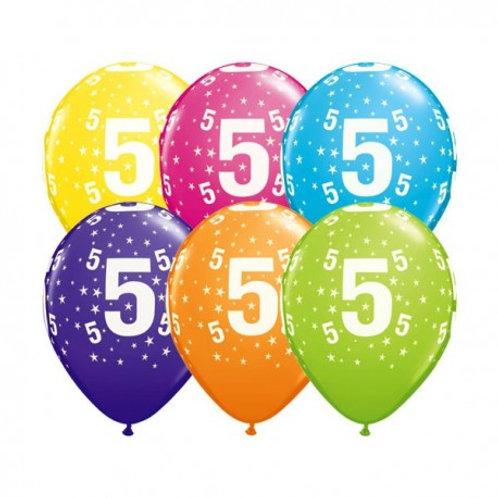Ballons Latex x6 - 5 ans