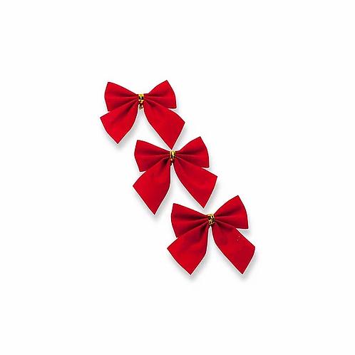 3 Nœuds rouge en velours