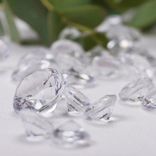 Mini-Diamants Pot de 110gr - Transparent