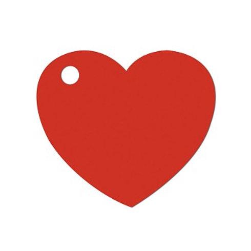 Etiquettes Coeur x50 - Rouge