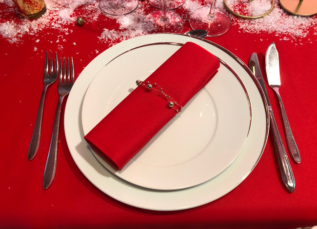 Table Noël rouge