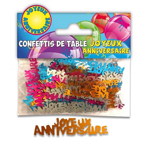 Confettis de Table Multicolore - Joyeux Anniversaire