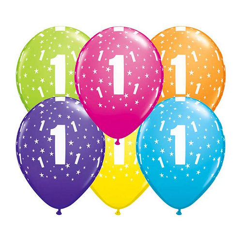 Ballons Latex x6 - 1 ans