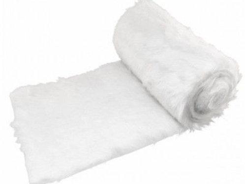 Chemin de table chic Blanc style fourrure
