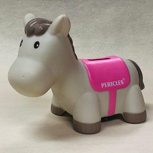 Tirelire Périclès (cheval rose)