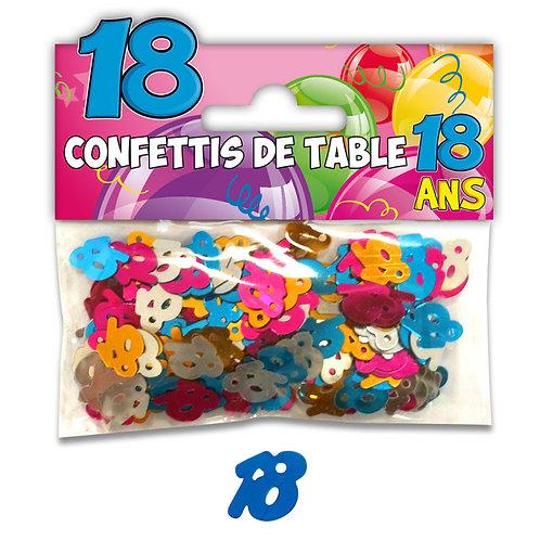 Confettis de Table Multicolore - 18 ans