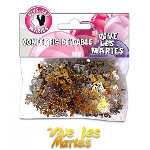 Confettis de Table Multicolore - Vive les mariés