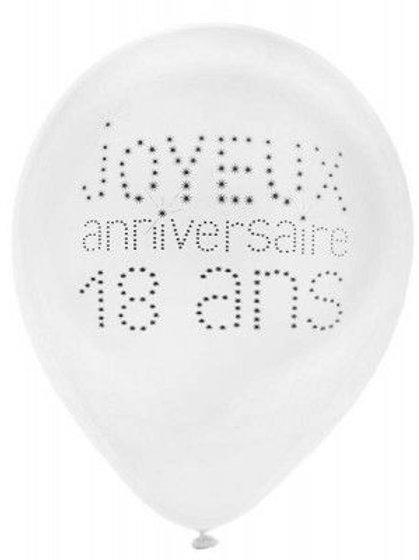 Ballons Latex x8 - 18 Ans